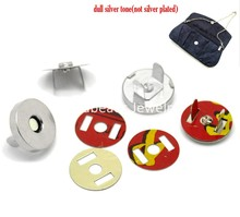 "Doreen Box Lovely 20 Sets Silver Tone Magnetic Purse Snap Clasps/ Closure for Purse Handbag 18mm(6/8"") Dia. (B20765)"