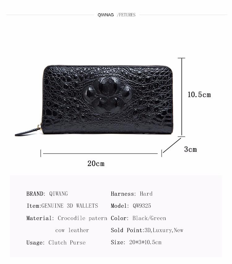 HTB1bdNTOFXXXXaqaXXXq6xXFXXXM - QIWANG SEXY Women Wallets Crocodile Head and Tail Wallet Purse for Women Split Leather Alligator Pattern Long Wallet Women