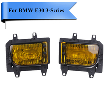 Yellow Clear Crystal Lens Front Bumper Fog Light Lamps Cover Lighthouse For BMW E30 3-Series 318i 325i 325e 1985 - 1992 #P373