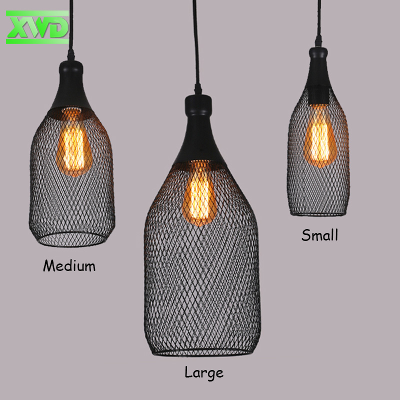 Vintage Bottle Shape Iron Painder Pendant Lamp Coffee House/Dining Hall/Club/Foyer/BookSoter E27 110-240V Indoor Lighting<br><br>Aliexpress