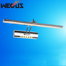 Hot classic led bathroom light 400mm 5W, cosmetic mirror lamp with switch, head adjustable reading lights(China)