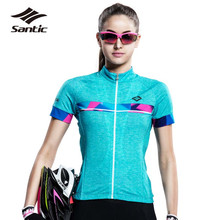 Santic Womens Cycling Jerseys 2017 Summer Sportswear Downhill MTB Road Bike Bicycle T-Shirt Tops Clothing Ropa Ciclismo - SireckSports Store store