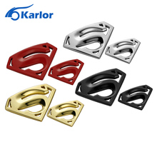 Karlor Metal 3D 3M chrome superman auto logo badge metal superman car sticker emblem car styling accessories motorcycle
