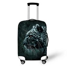 High 3D Animal Print Protective Baggage Cover For 18-30 Inch Trolley Suitcase Elastic Waterproof Travel Luggage Cover 6color(China)