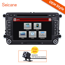Seicane 2 Din 7 inch Universal Radio car DVD Player GPS Navigation Stereo for VW Volkswagen 2006-2011 with Multimedia player(China)