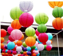 10Pcs 30cm Round Chinese Paper Lantern Birthday Paper Lanterns for Wedding Party Decoration Gift Craft DIY Wholesale Retail