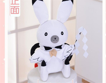 2018 VOCALOID Miku Snow Bell Bunny Rabbit White Doll Lovely Toy Cosplay Accessory Birthday Gift(China)