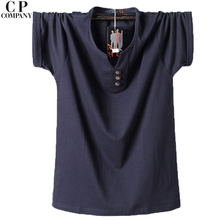 CPCOMPANY Plus Size 3XL 4XL 5XL 6XL 7XL 8XL O Neck Collar Fashion Solid Color T Shirt Man Summer Clothing 29-39