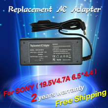 19.5V 4.7A 6.5*4.4MM 90W Replacement For SONY Laptop AC Charger Power Adapter Input 100-240V free shipping