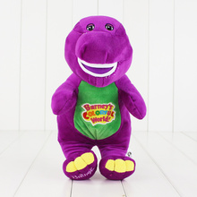 1pcs 28cm singing Barney & Friends Dinosaur plush toy gift for Christmas