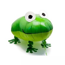2 pcs Aluminum Film Cartoon Frog Balloon Walking Pet Helium Balloon for Children Bedroom Birthday Party Decoration Hot Sale(China)