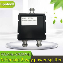 Free shipping 2 way power divider cell phone signal repeater 800-2500Mhz 2 Way Signal splitter