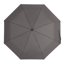 SUSINO Manual Open Umbrella Adult Three-folding Umbrella Pure Gray Waterproof Windproof Useful Umbrellas