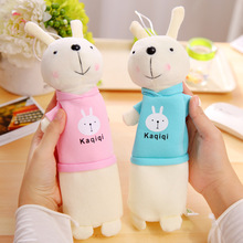 New Cute Cartoon Kawaii Plush Pencil Case Creative Lovely Rabbit Pen Bag For Kids Gift School Supplies Free Shipping 132(China)