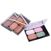 Professional Natural Concealer Palettes 4 Colors Makeup Foundation Facial Face Cream Cosmetic(China)