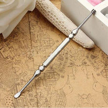 2in1 Stainless Steel Ear Pick Wax Curette Removal Remover Earpick Cleaner Tools(China)