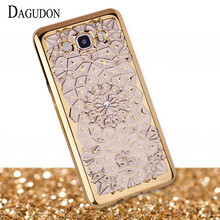 DAGUDON Cases For Samsung Galaxy J5 2016 Transparent case J510 Luxury Glitter Phone Cases For Samsung J5 2016 Cover Silicon