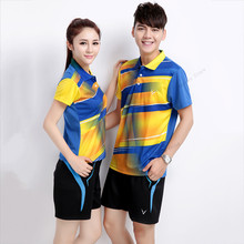 Adsmoney polo T shirt badminton Suit high quality shirts Shorts Tennis Golf jerseys badminton sportwear clothes with shorts(China)