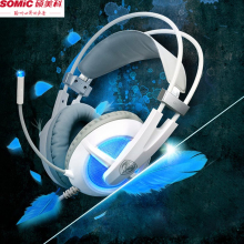 Somic G938 Headphone 7.1 Virtual Surround Sound USB Gaming Headset with Mic Voice Control Gamer Studio Bass Noise Isolating(China)