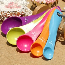Best sale 5pcs/set Measuring SpoonColorful Plastic (1 / 2.5 / 5 / 7.5/ 15ml) Measure Spoon Super Useful Sugar Cake Baking Spoon(China)