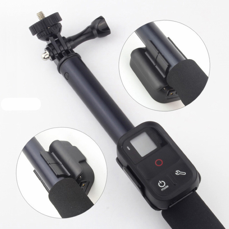 1pc Large Size Remote Lock Adapter WiFi Remote Control Clip Lock Holder Adapter For Gopro Hero 4 3+3 Monopod Mayitr
