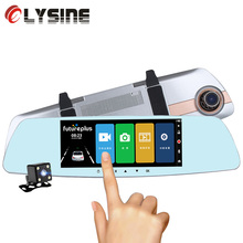 7.0 inches Touch Screen Car DVR Camera Starlight Night Vision Dual Lens Rear View Mirror DVR Auto Dash Cam 1080P Video Recorder(China)