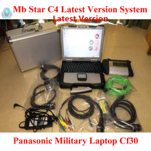 Mb star c4 with Panasonic CF30 Laptop 4GB Ram Support SSD Aluminum Case more Optional for mb star diagnostic tool