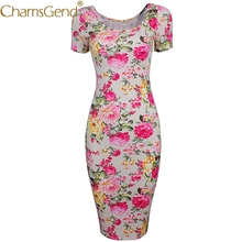 Buy Chamsgend Newly Design Women Vintage Chinese Style Flowers Print Short Sleeve Cheongsam Sheath Skinny Bodycon Party Dress 71031 for $8.62 in AliExpress store