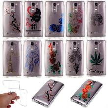TPU Soft Case Fundas LG K10 Case Silicone Transparent Phone Case LG K10 Cover Case Cute Cartoon Flower TPU Shockproof Back Cover(China)