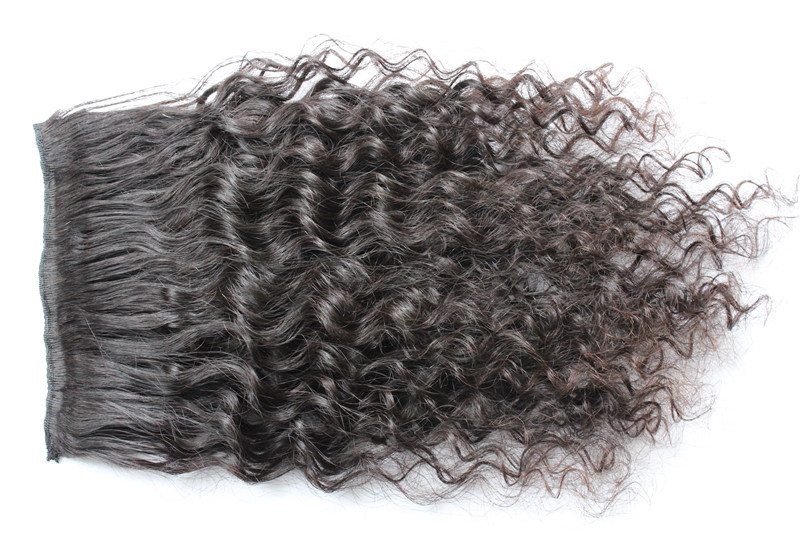 Free shipping Remy Clip in human hair extensions for full head 8pcs/set Brazilian curly virgin hair no shedding no tangle<br><br>Aliexpress