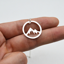 Buy Courage Pendant Mountain Necklace Spirit Jewelry Women Charm Choker Necklace Birthday Gift Gilfriend Mom SGL251 for $2.32 in AliExpress store