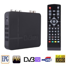 DVB T2 Tuner MPEG4 DVB-T2 HD Compatible set top box TV Receiver W/RCA/HDMI PAL/NTSC Auto Conversion box(China)