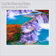 HOT 5D Diy Diamond Painting Religion 3D Diamond Mosaic Beauty Lake With Purple Falls Inlaid Fabric Needlework Diamond Embroidery(China)