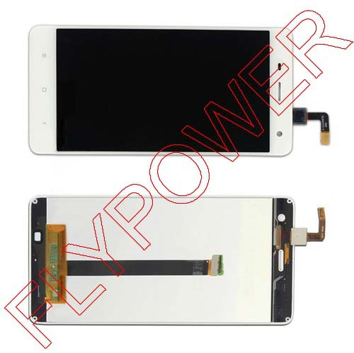For XIAOMI 4 Mi4 M4 Mi-4 LCD Screen Display with White touch screen digitizer assembly by free shipping; 100% Warranty<br>