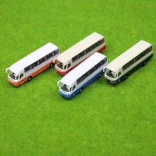4pcs Model Cars Buses 1:150 N Scale Railway Layout Plastic NEW Free Shipping BS15001 railway modeling