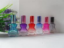 100pcs wholesale 10ML Violin colored glass spray perfume bottle / wholesale glass 10 ml empty spray bottle for perfume