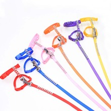Pet Dog Leashes and Collars Set Puppy Leads for Small Dogs Cat Designer Rhinestone Adjustable Nylon Dog Harness Pet Accessories(China)