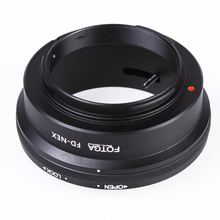 Oversea Stock Fotga Camera Lens Adapter Mount Ring for Canon FD Lens to use for Sony NEX E NEX-3 NEX-5 NEX-VG10(China)