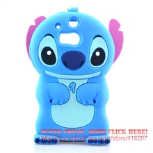 For HTC One M8 Case 3D cute Cartoon Soft Rubber silicon Stitch Case Folding of the Ear(China)