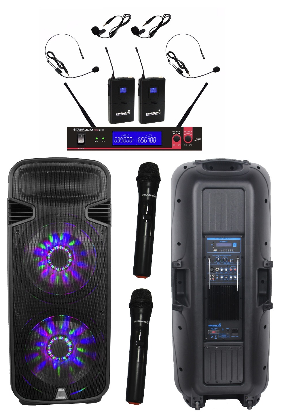 4500w 15\'\' powered speaker with mic(14)