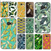 banana leaf pattern Tropical Leaves Fruit Case for Samsung Galaxy A3 A5 A7 J3 J5 J7 2015 2016 2017 & Grand Prime 2 Note 4 3
