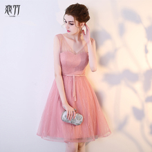 New sexy pink grey summer short lady girl women princess bridesmaid banquet party ball dress gown free shipping