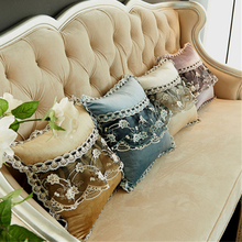 2017 New Recommend Velvet luxury Sofa Cushion Cover Round Lace Tassel Around Bed Home Car Chair Model Room Ornament Wholesale