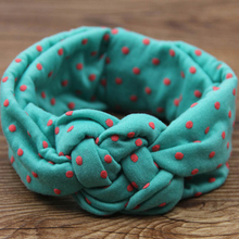 1 Piece Girls Kids Wide Dot Cross Hairband Turban Knitted Knot twisted Headband Headwear Hair Bands Accessories