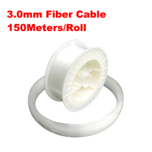 3.0mm diameter 150m/roll LED Fiber Lights PMMA optic cable end lighting for decoration lights
