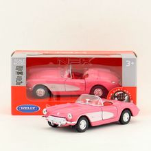 Welly DieCast Metal Model/1:36 Scale/1957 CHEVROLET CORVETTE Toy Car/Pull Back Educational Collection/Children's gift/Collection(China)