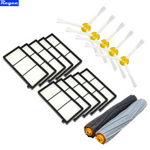 1 Tangle-Free Debris Extractor Set & SideBrushe & Hepa Filter For iRobot Roomba 800 series 870 880 980 Vacuum Cleaning Robots