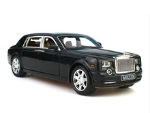 Free Shipping 1:24 Rolls Royce Phantom Black Diecast Sound & Light & Pull Back Model Toy Car New in Box