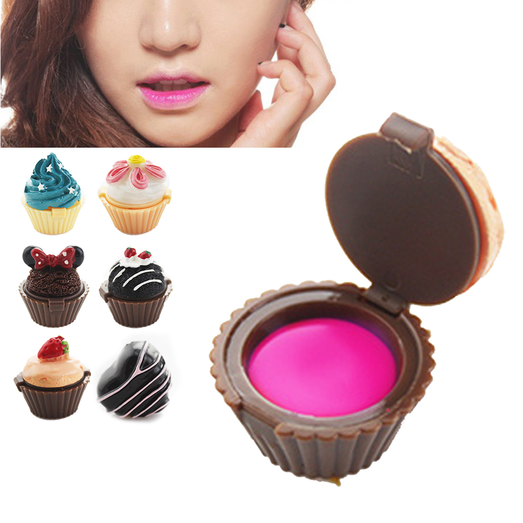 Lovely fashion lip gloss lipstick cake icecream flower Beauty style Makeup Lip Gloss Multi Colors(China (Mainland))