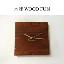 Wood Square Wall Clocks Home Hotel Bar Decor Wall Stickers Quartz Wall Watches Needle Unique Gifts New House Presents